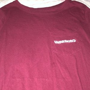 Unbothered maroon shirt